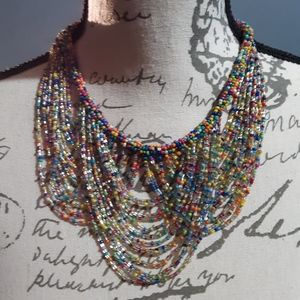 HANNAH MULTICOLORED BEADED NECKLACE